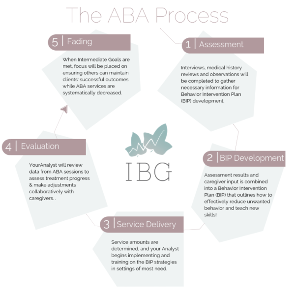 The Applied Behavior Analysis (ABA) Process Graphic